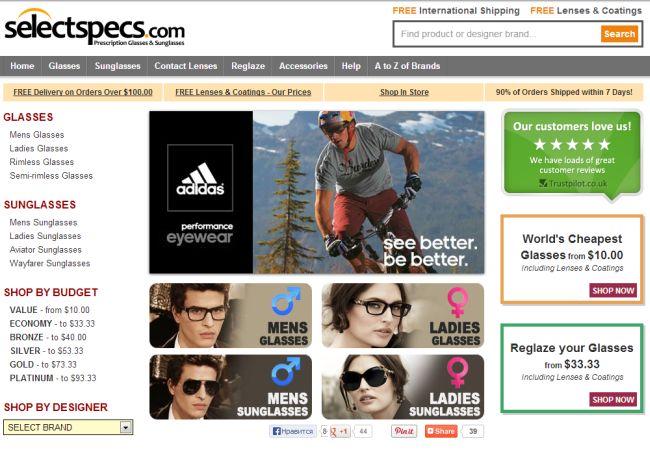 Интернет-магазин Selectspecs.com