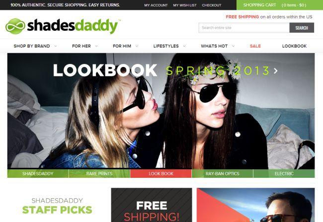 Интернет-магазин Shadesdaddy.com