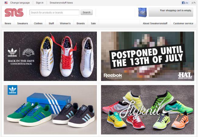 Интернет-магазин Sneakersnstuff.com
