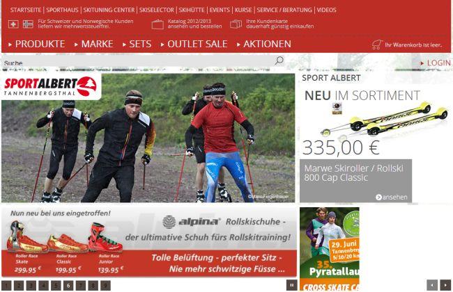 Интернет-магазин Sportalbert.de