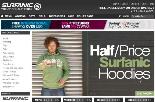 Интернет-магазин Surfanic.co.uk