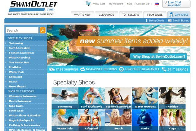 Интернет-магазин Swimoutlet.com