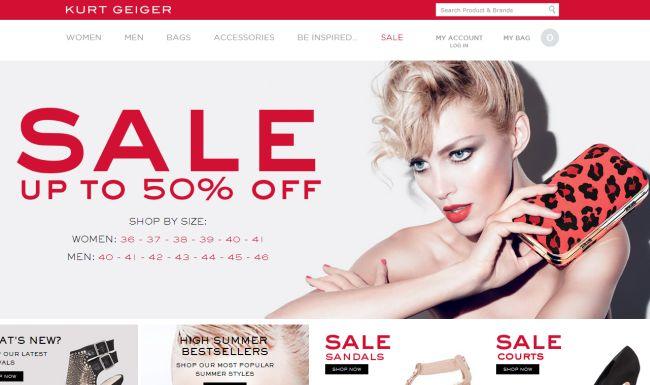 Интернет-магазин Kurtgeiger.com