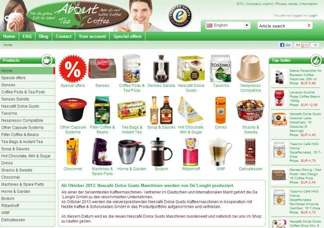 Интернет-магазин About-tea.de