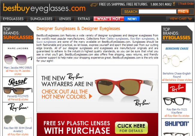 Интернет-магазин Bestbuyeyeglasses.com