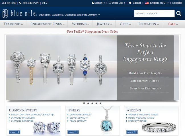 Интернет-магазин Bluenile.com