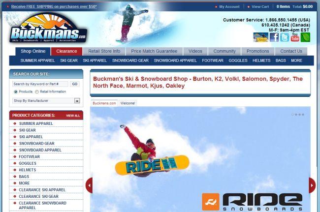 Интернет-магазин Buckmans.com