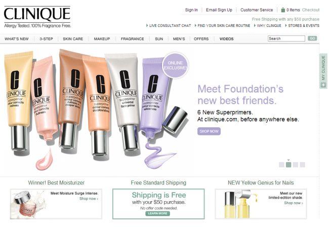 Интернет-магазин Clinique.com