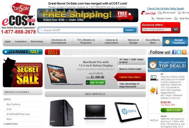 Интернет-магазин Ecost.com