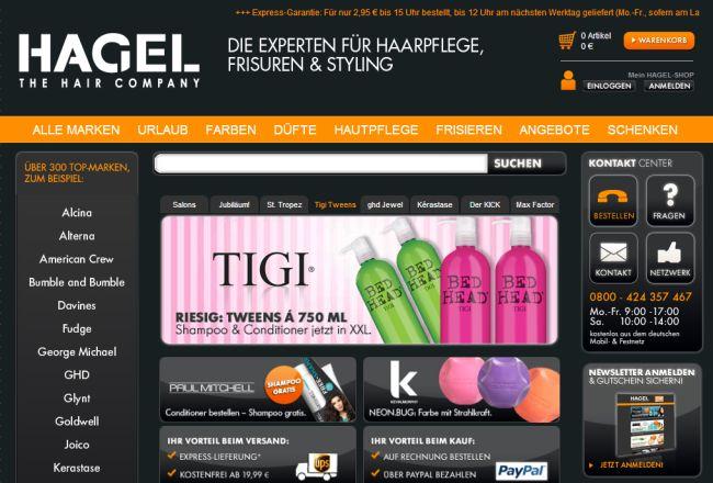 Интернет-магазин Hagelshop.de