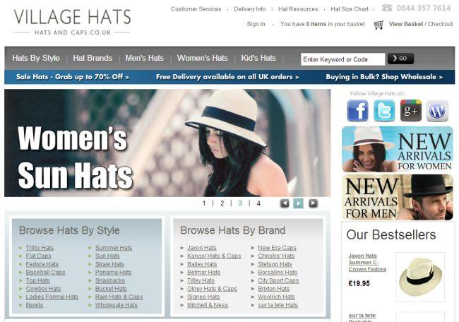 Интернет-магазин Hatsandcaps.co.uk