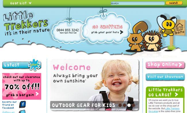 Интернет-магазин Littletrekkers.co.uk