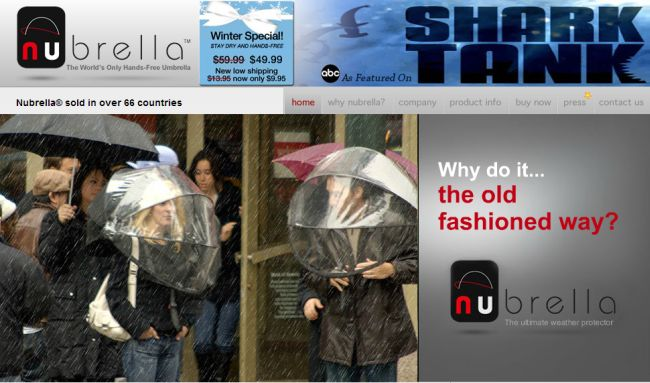 Интернет-магазин Nubrella.com