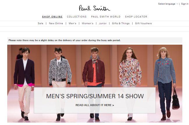 Интернет-магазин Paulsmith.co.uk