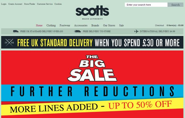 Интернет-магазин Scottsmenswear.com