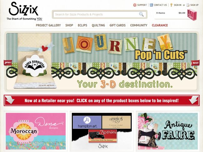 Интернет-магазин Sizzix.com
