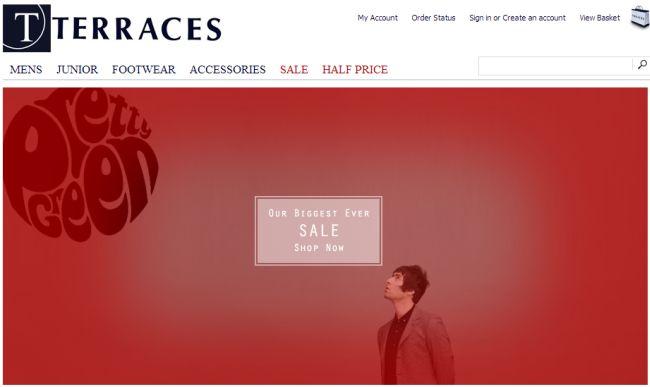Интернет-магазин Terracesmenswear.co.uk