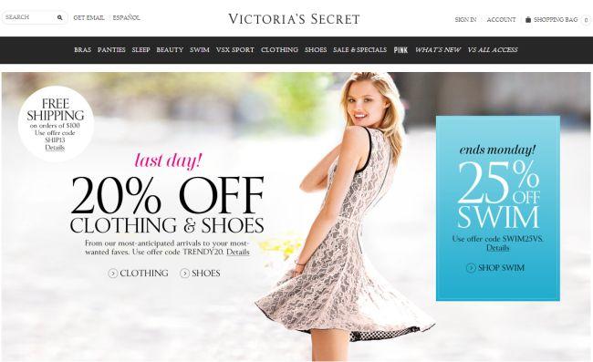 Интернет-магазин Victoriassecret.com