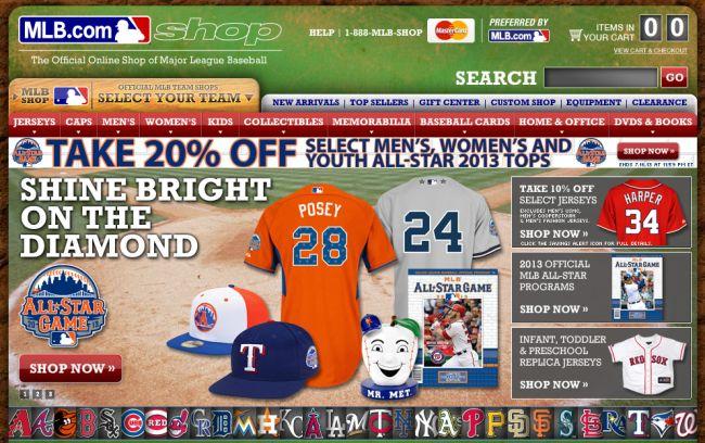 Интернет-магазин Shop.mlb.com