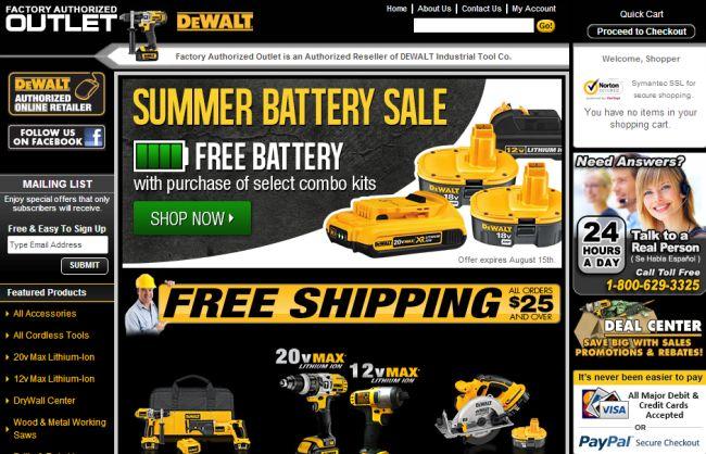 Интернет-магазин Factoryauthorizedoutlet.com