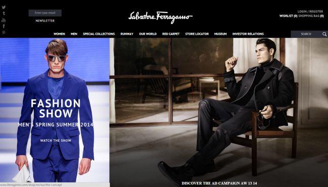Интернет-магазин Ferragamo.com