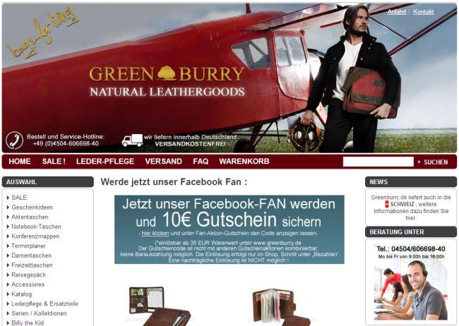 Интернет-магазин Greenburry.de