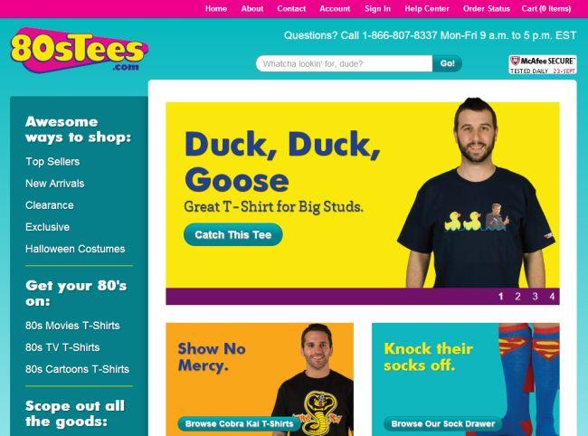 Интернет-магазин 80stees.com