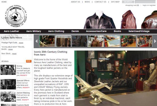Интернет-магазин Aeroleatherclothing.com