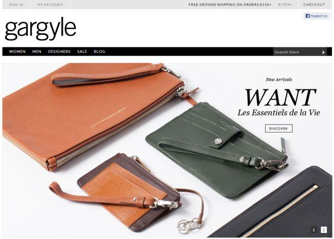 Интернет-магазин Gargyle.com