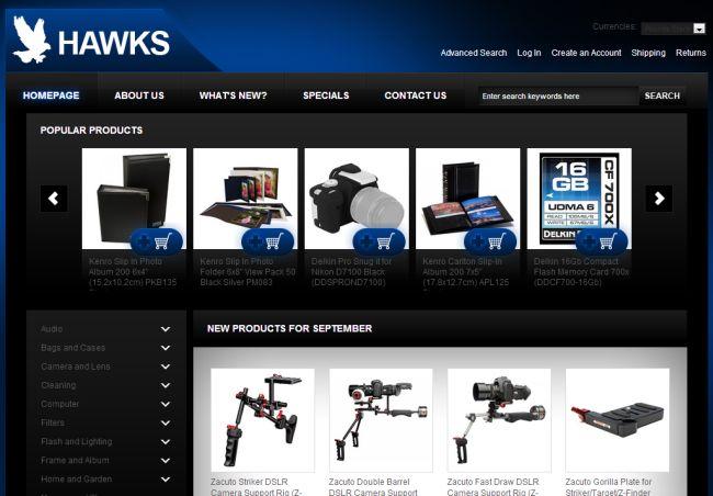 Интернет-магазин Hawksphotovideo.co.uk