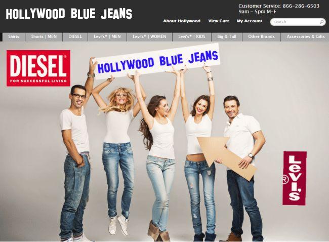 Интернет-магазин Hollywoodbluejeans.com