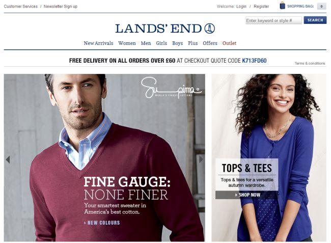 Интернет-магазин LandSend.co.uk