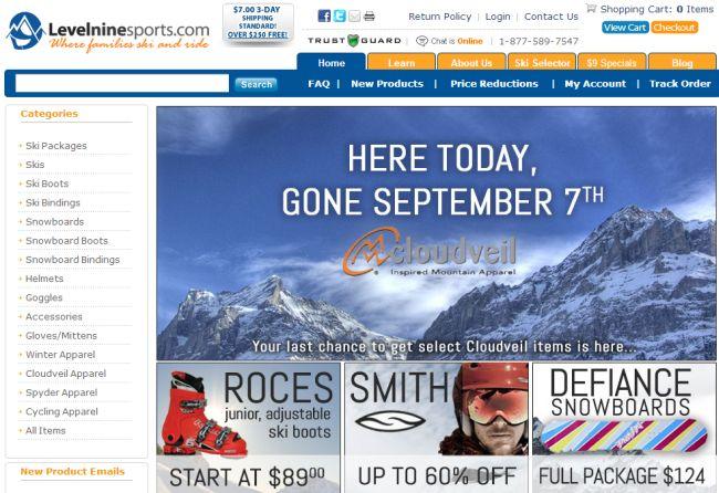 Интернет-магазин Levelninesports.com