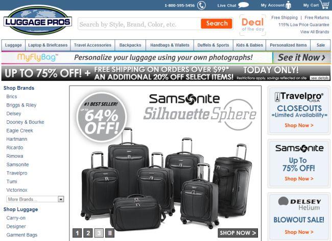 Интернет-магазин Luggagepros.com