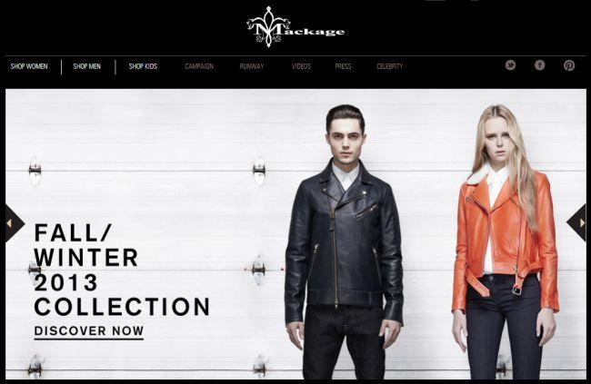 Интернет-магазин Mackage.com