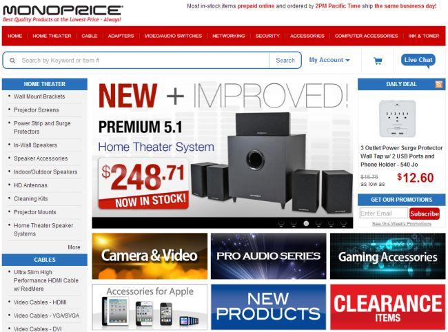 Интернет-магазин Monoprice.com