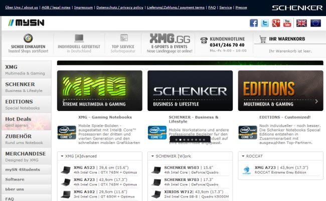 Интернет-магазин Mysn.de