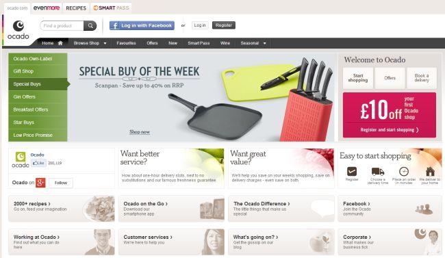 Интернет-магазин Ocado.com
