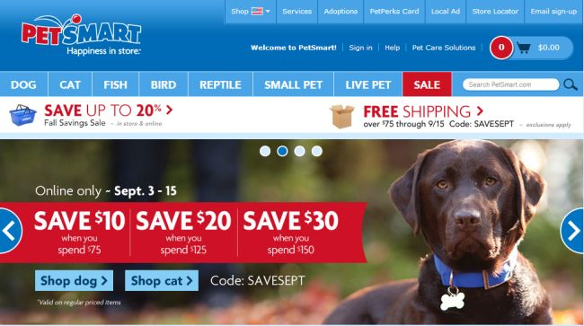 Интернет-магазин Petsmart.com