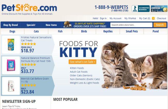 Интернет-магазин Petstore.com