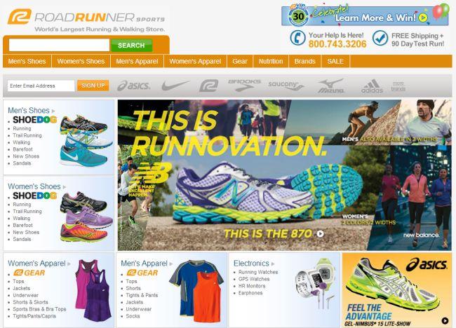 Интернет-магазин Roadrunnersports.com