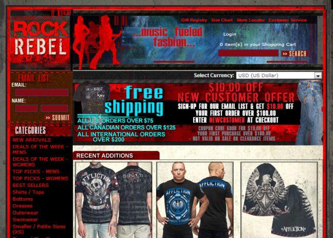 Интернет-магазин Rock-rebel.com