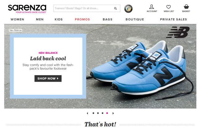 Интернет-магазин Sarenza.co.uk