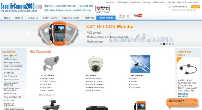 Интернет-магазин Securitycamera2000.com