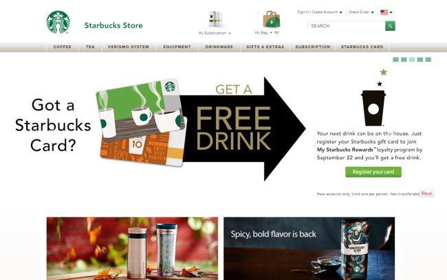 Интернет-магазин StarbucksStore.com