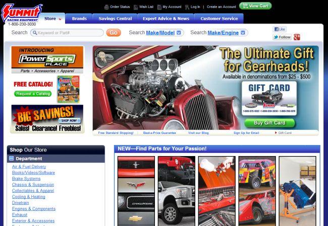 Интернет-магазин Summitracing.com