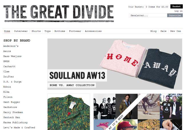 Интернет-магазин Thegreat-divide.com