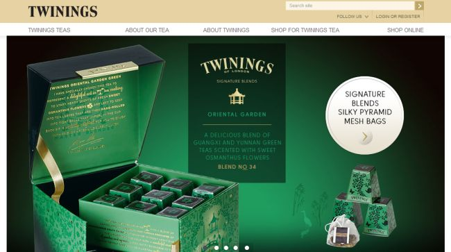 Интернет-магазин Twinings.co.uk
