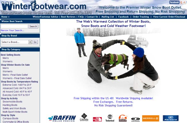 Интернет-магазин WinterFootwear.com