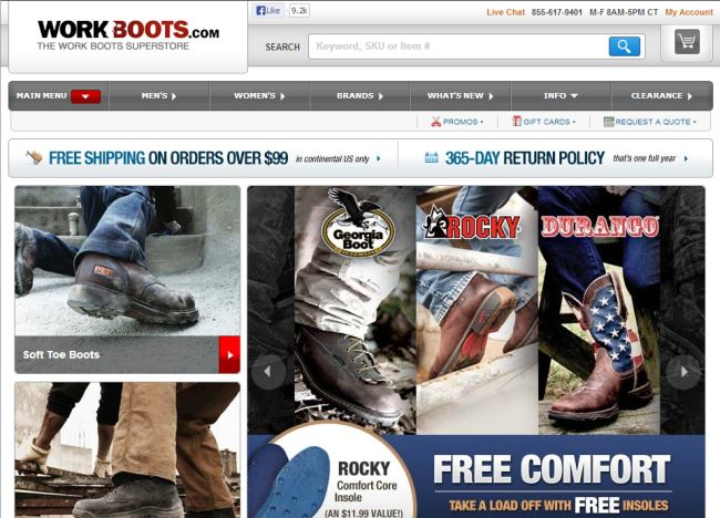 Интернет-магазин Workboots.com